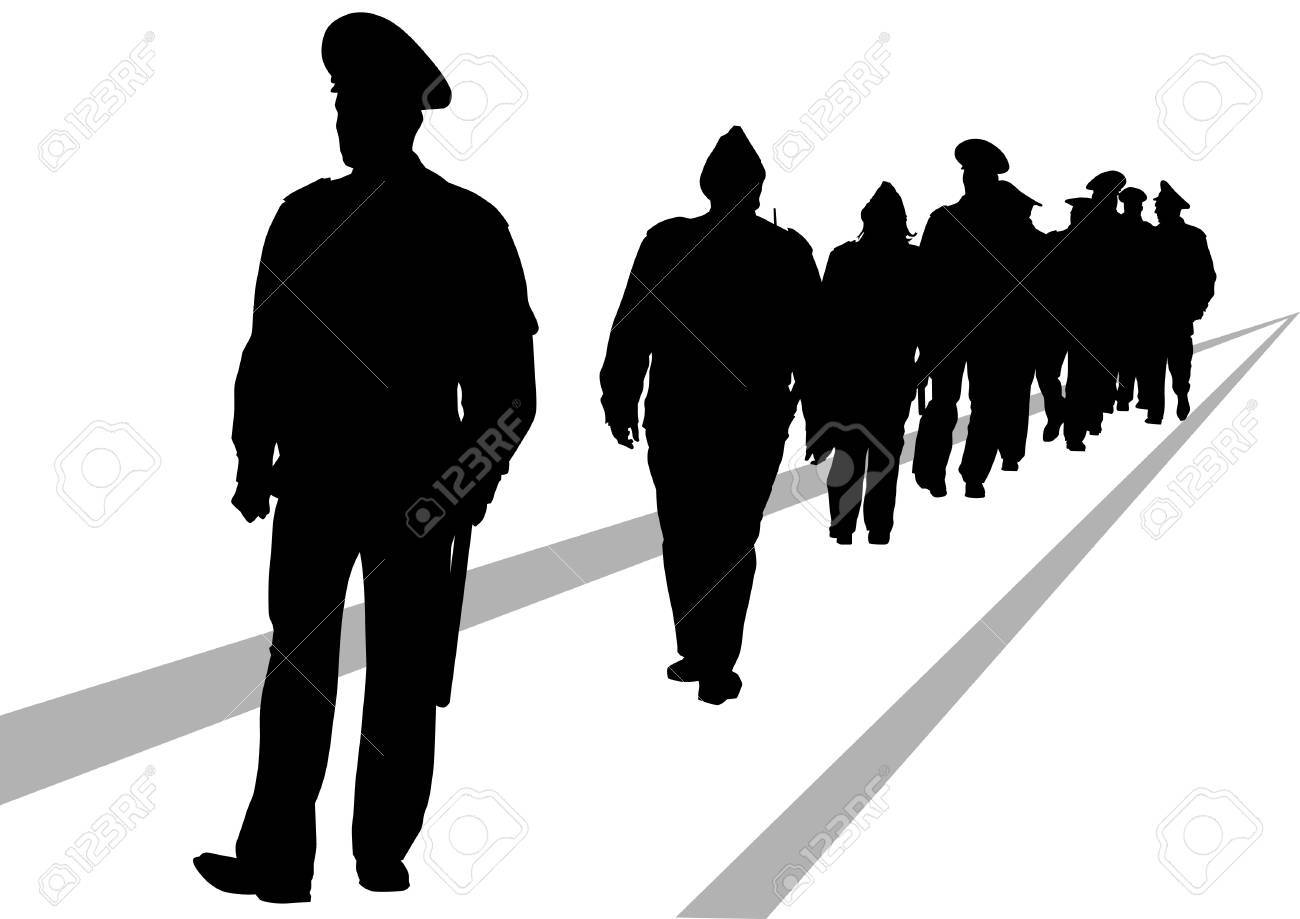 Vector image of police in form of protective Stock Vector - 18511114