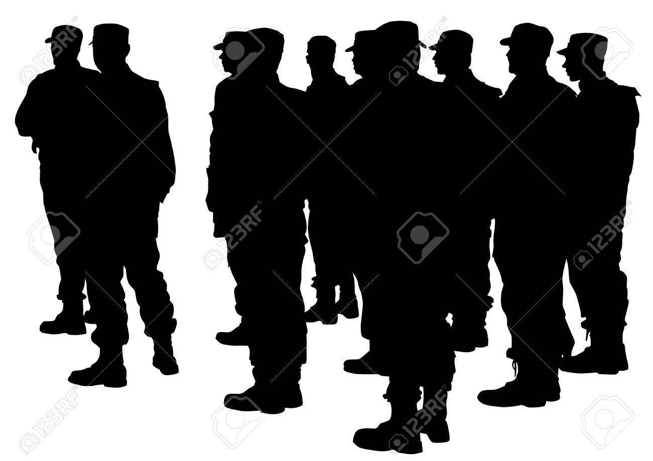 特別な警察力のベクトル描画 ロ...