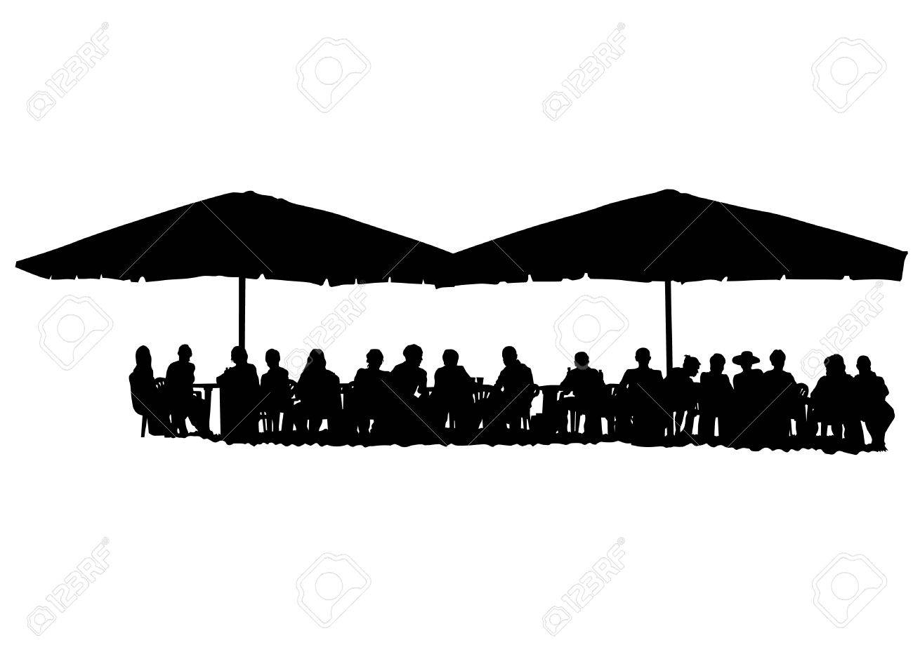 Restaurant Background With People people for lunch at a restaurant on white background royalty free