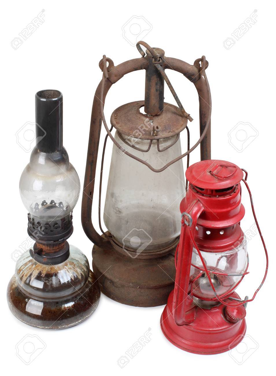 Picture of: Old Kerosene Lamps On White Background Stock Photo Picture And Royalty Free Image Image 69972721