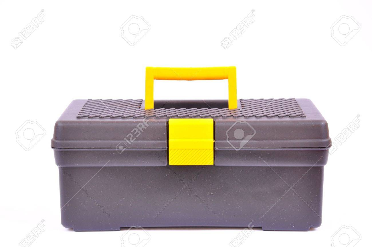 Tool box isolated on white, with clipping path Stock Photo - 6394725
