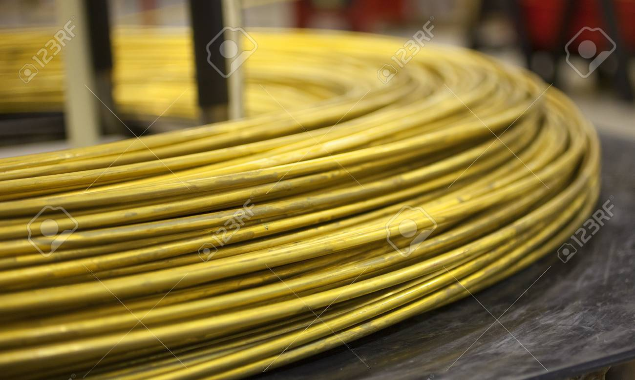 Thick Diameter Spool Of Brass Wire That Is Going To Be Made Into