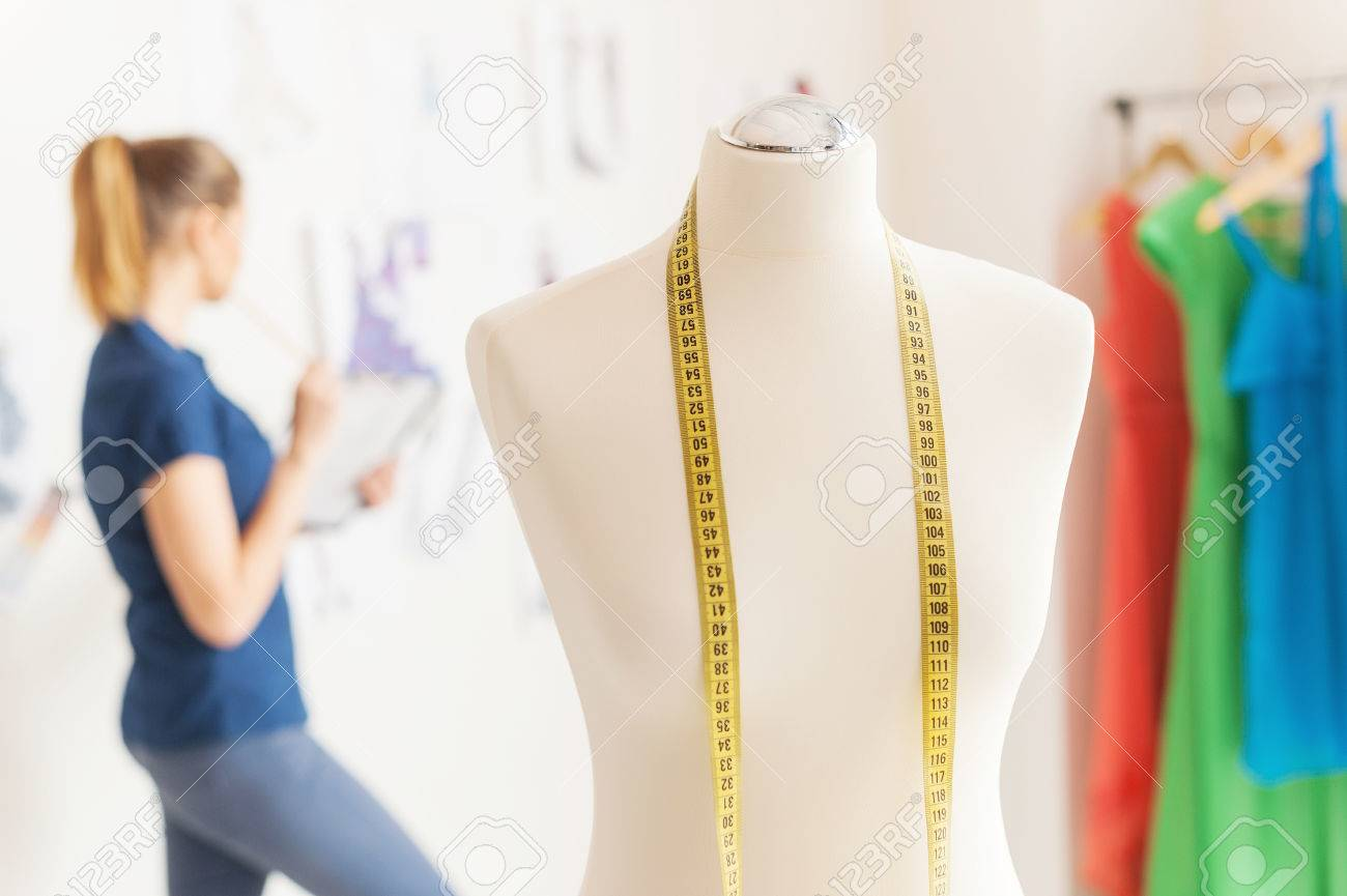 In Search Of Inspiration Female Fashion Designer Looking At Stock Photo Picture And Royalty Free Image Image 27923076