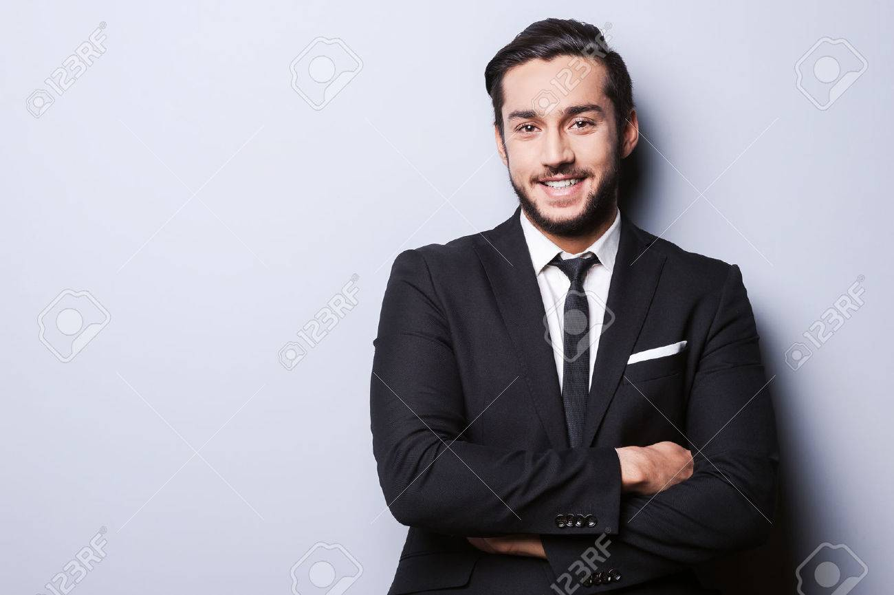 successful businessman portrait of confident young man in formal