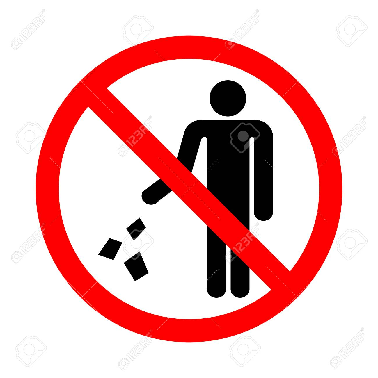 Do not litter sign. Vector illustration on a white background. - 94916347