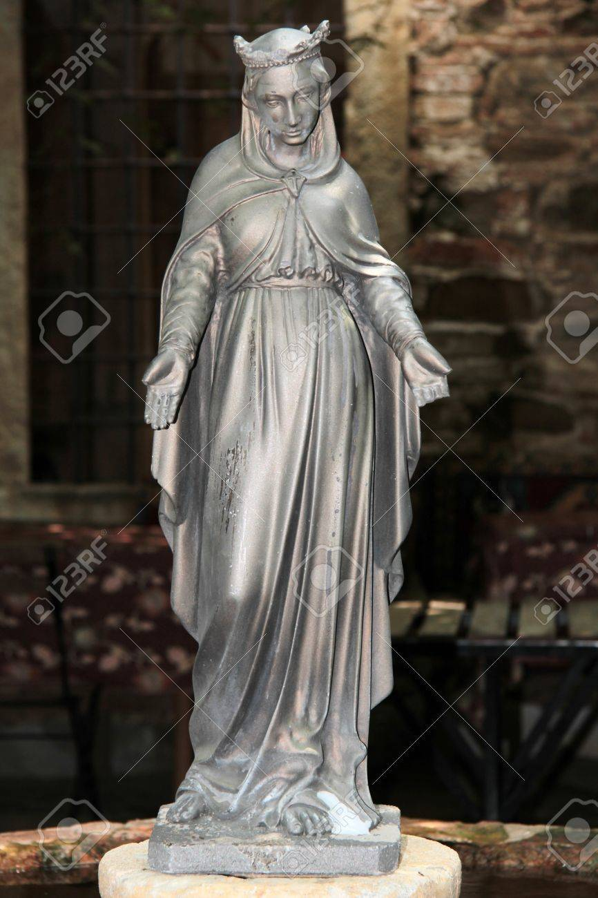 Statue Of Virgin Mary Shot Alone As Symbol Of Faith