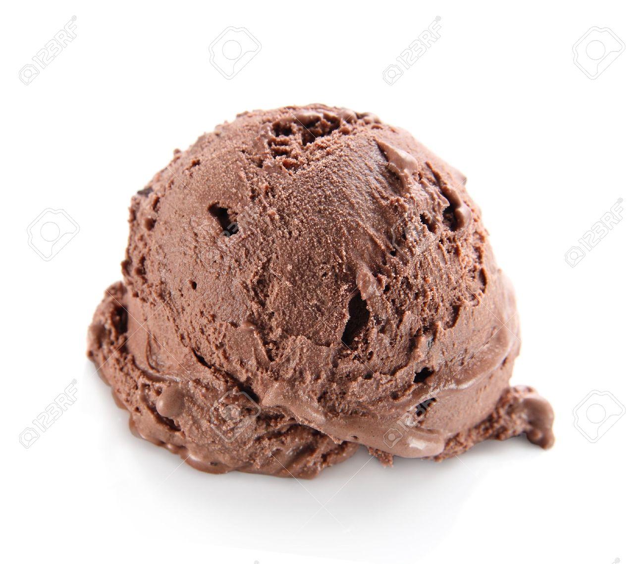 Chocolate ice cream scoop Stock Photo - 12550481