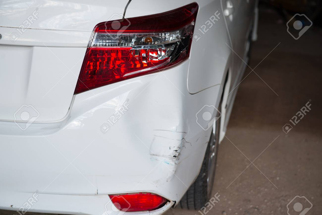 Car Tail Lights >> Tail Lights Of A Car Broken Following A Car Accident