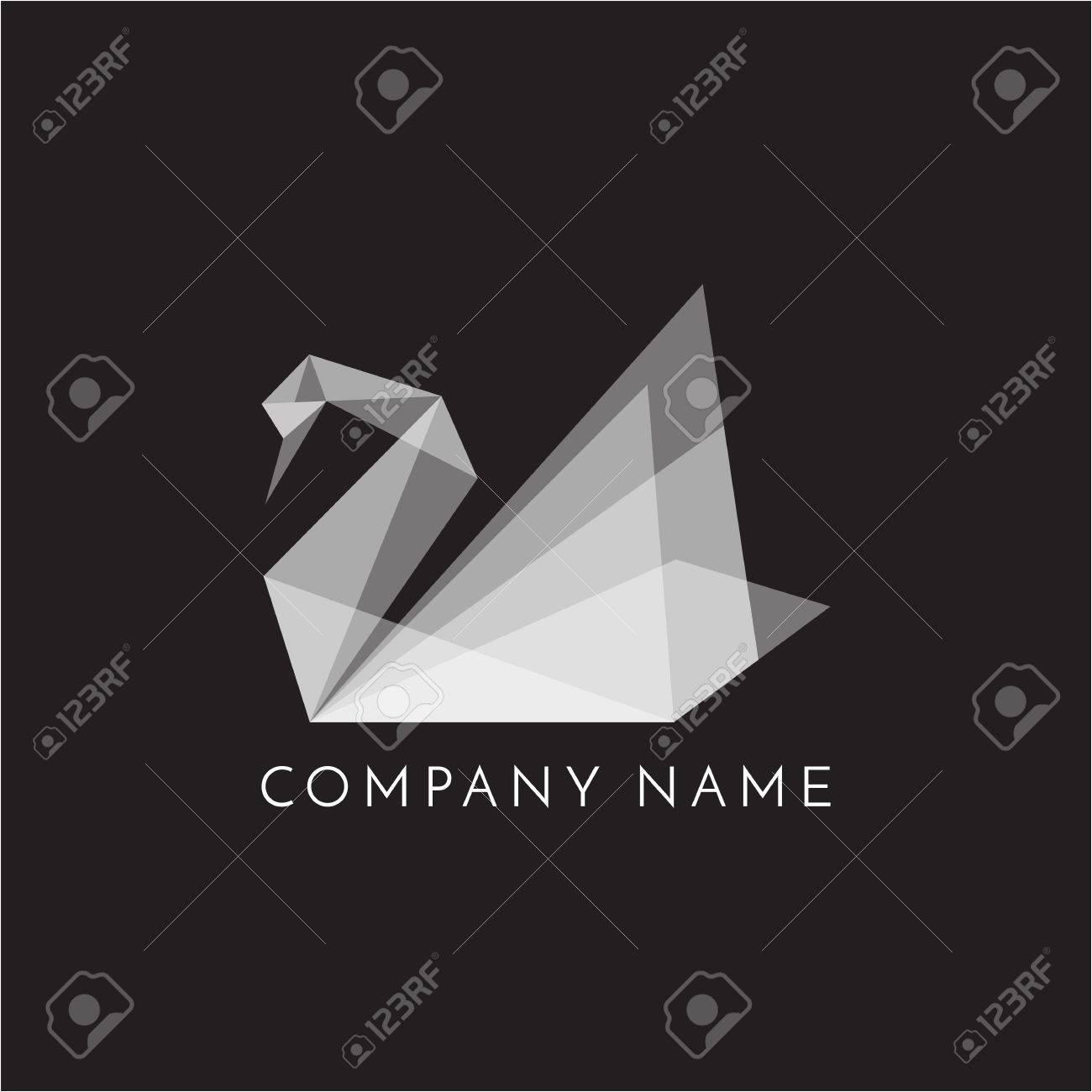 Swan logo sign emblem origami on black background vector swan logo sign emblem origami on black background vector illustration stock illustration 87481434 jeuxipadfo Gallery