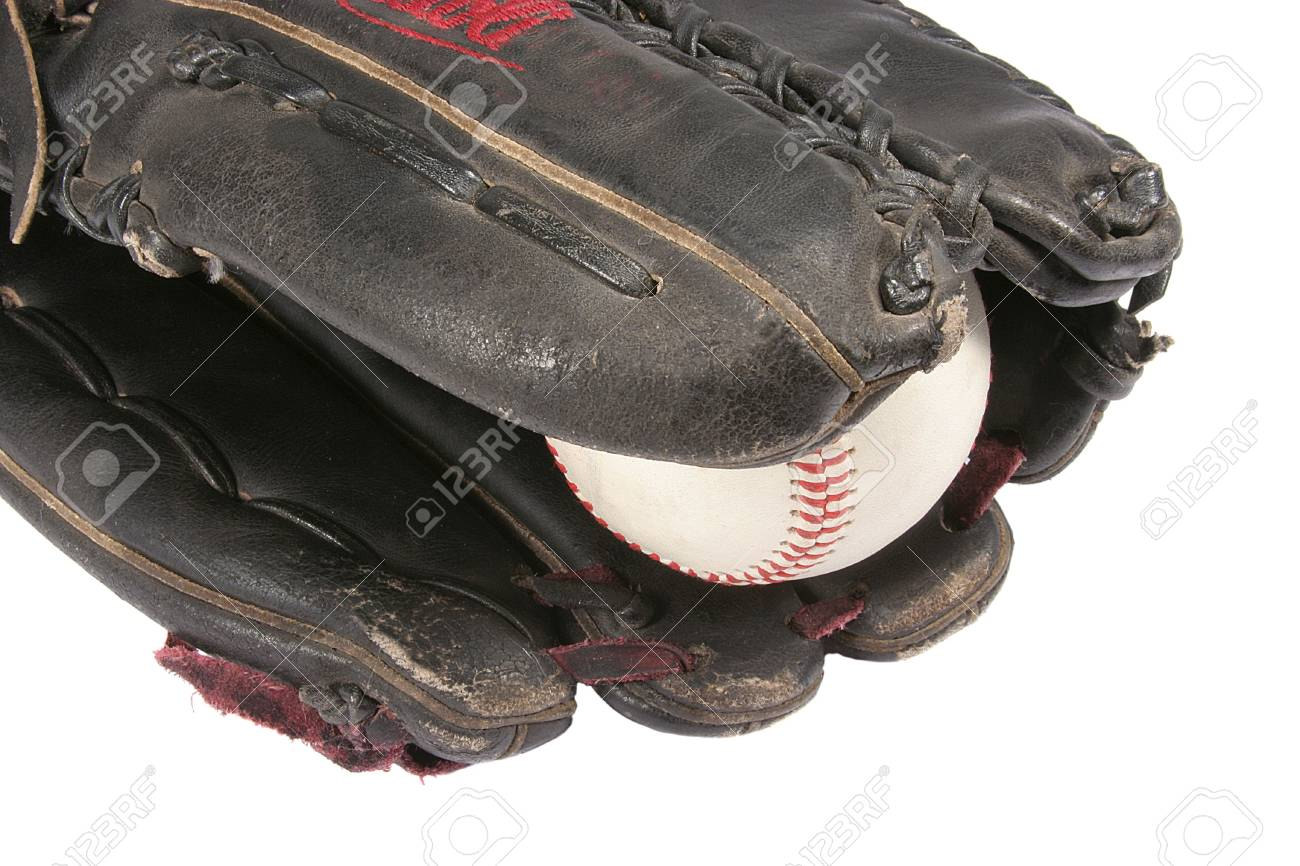 Outfielder's Glove and Ball Stock Photo - 3087036