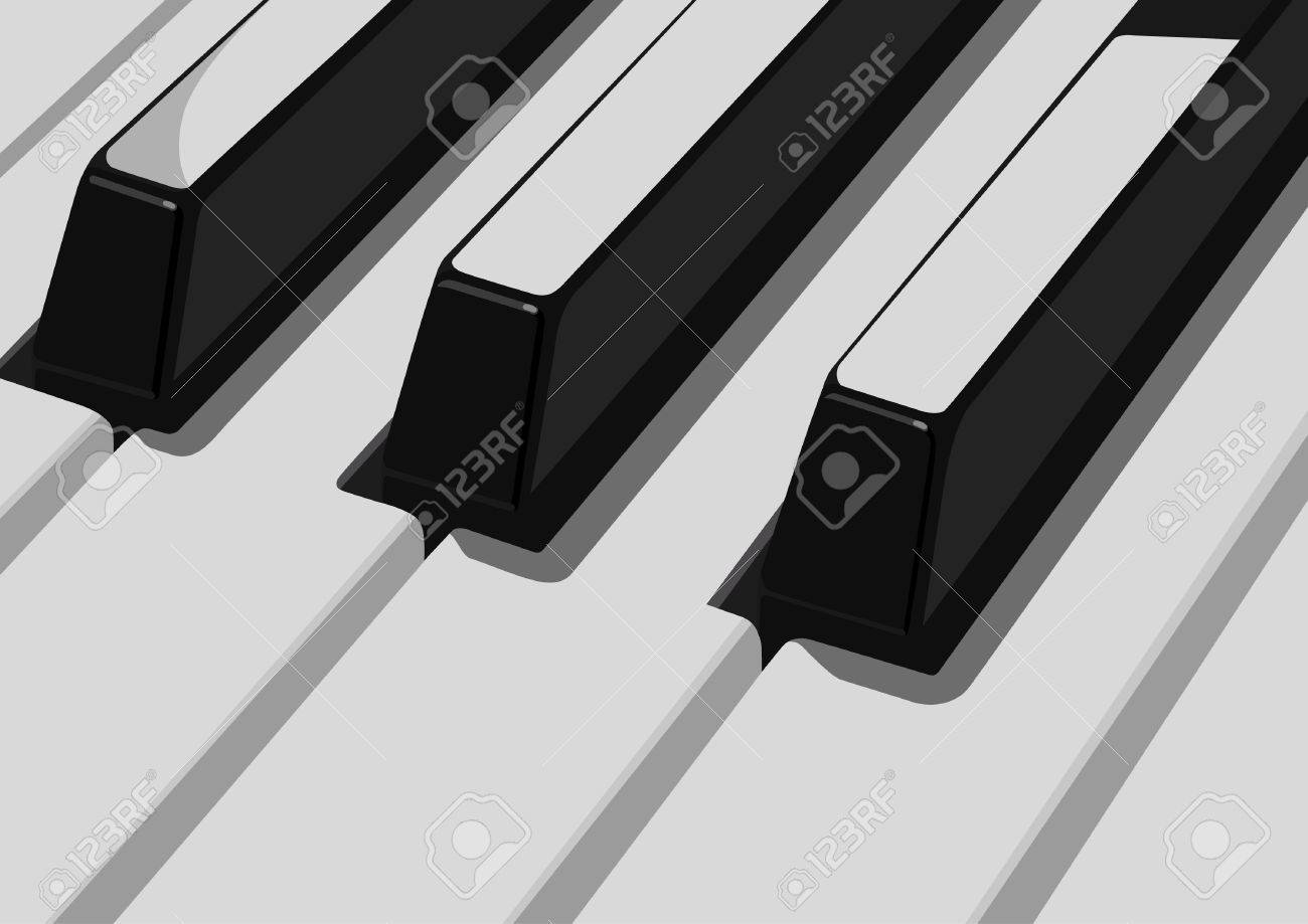 Piano Black And White Black And White Keys Piano