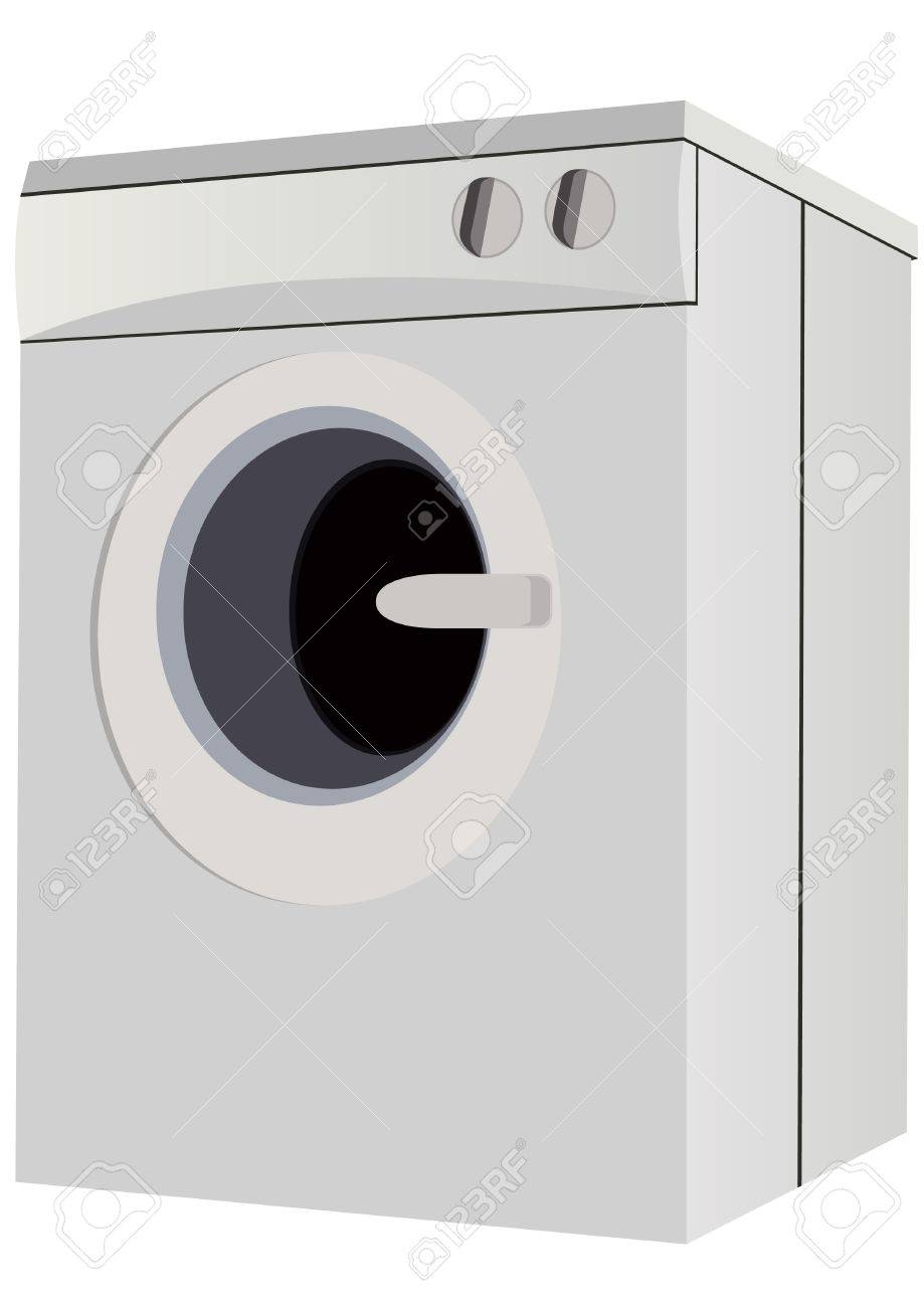 home appliances for the home a modern washing machine stock vector 9612546 - Modern Home Appliances
