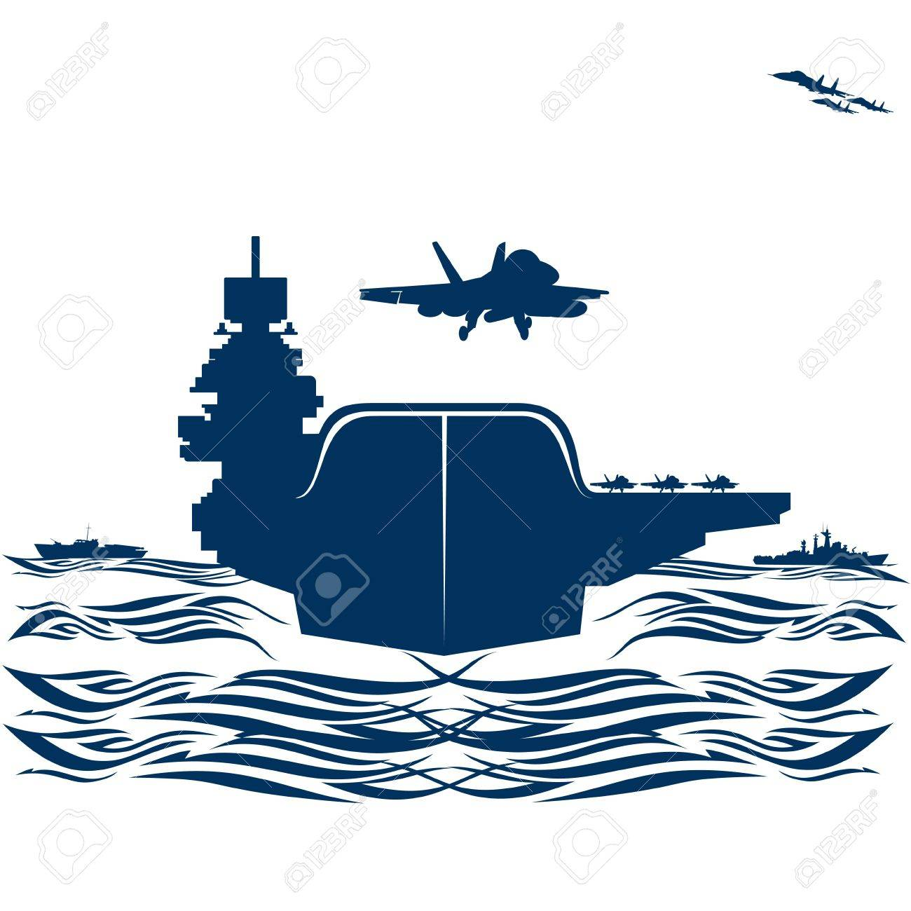navy military aircraft taking off from an aircraft carrier rh 123rf com us aircraft carrier clipart