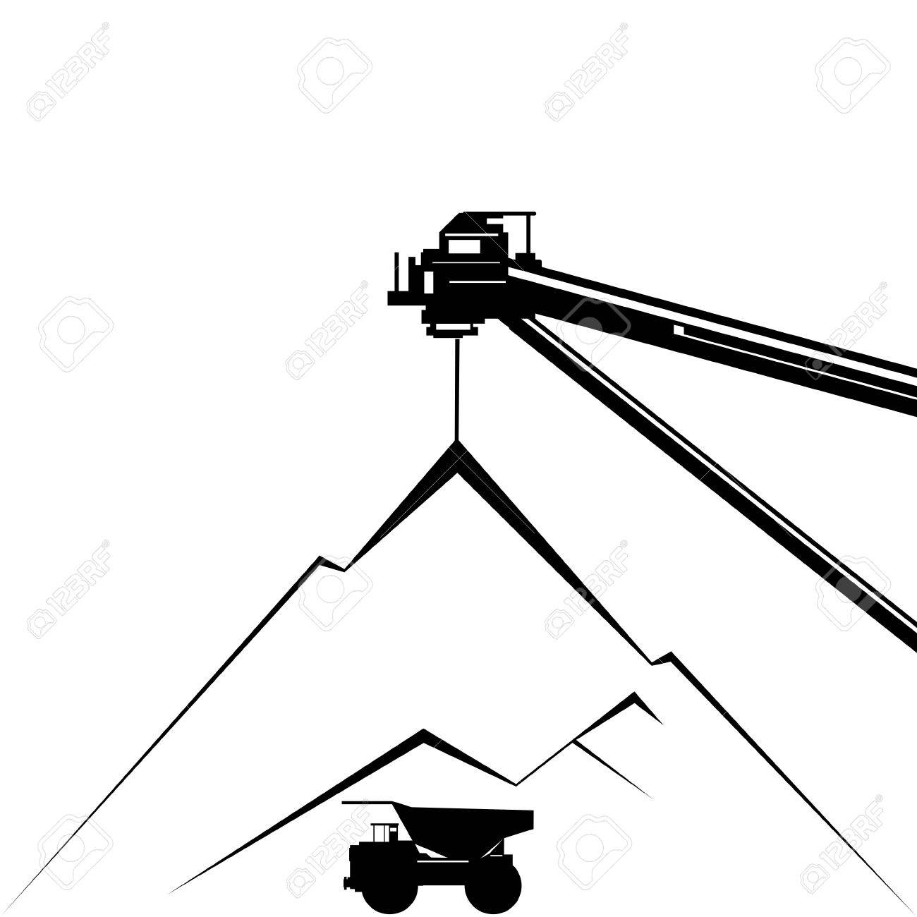 Coal industry  Coal mining  Illustration on white background Stock Vector - 17993001