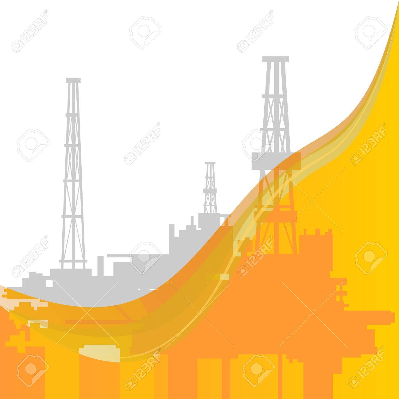 Mining and quarrying  Oil rigs  The illustration on a white background Stock Vector - 20857340