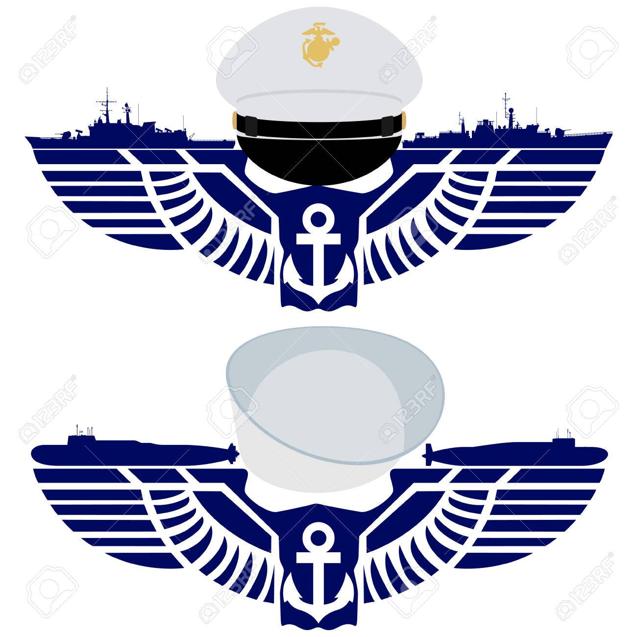 The Icons Of The Navy United States Royalty Free Cliparts Vectors
