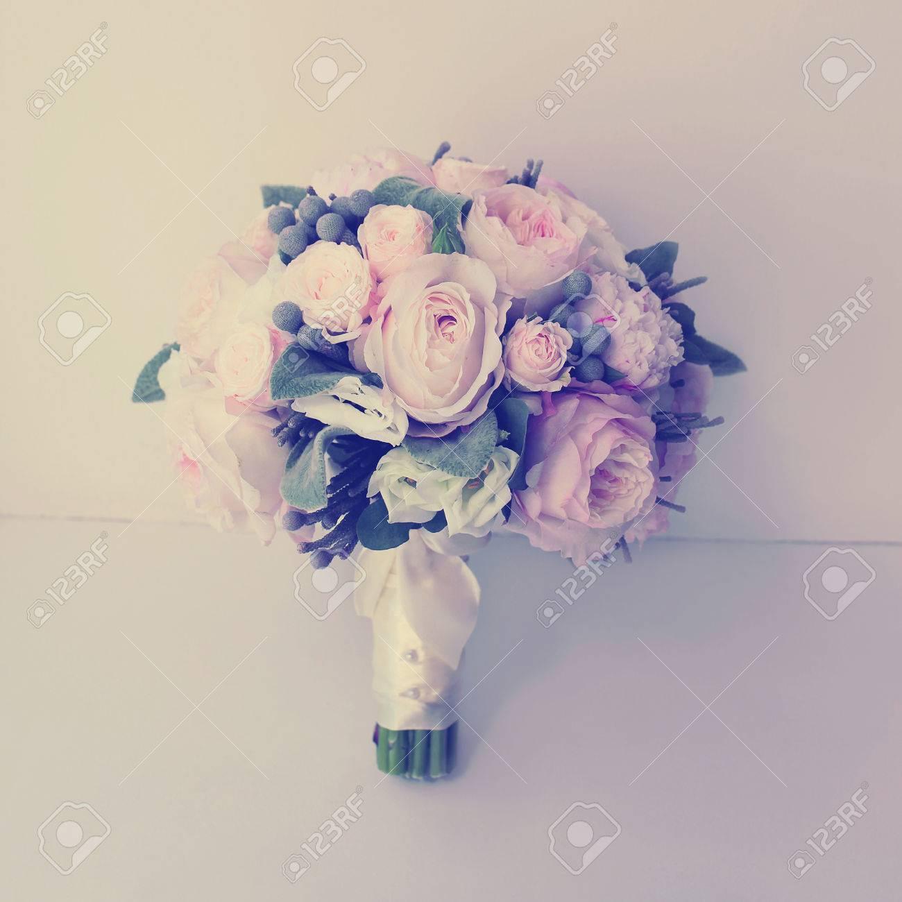 Vintage Sanften Hochzeitsblumenstrauss Weiche Pastellfarben