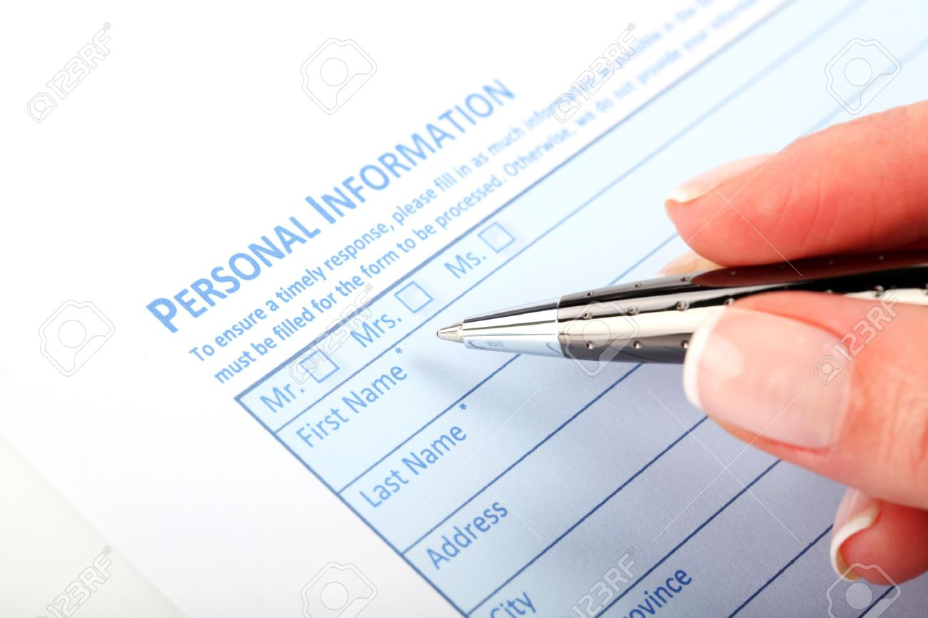 Filling Document Form - Paperwork, office, business - 18439404