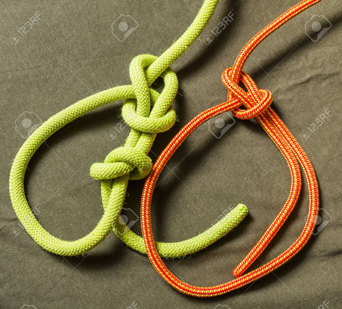 Bowline Knot With Security And Without Stock Photo Picture Water How To Tie A Boating Knots 67134487