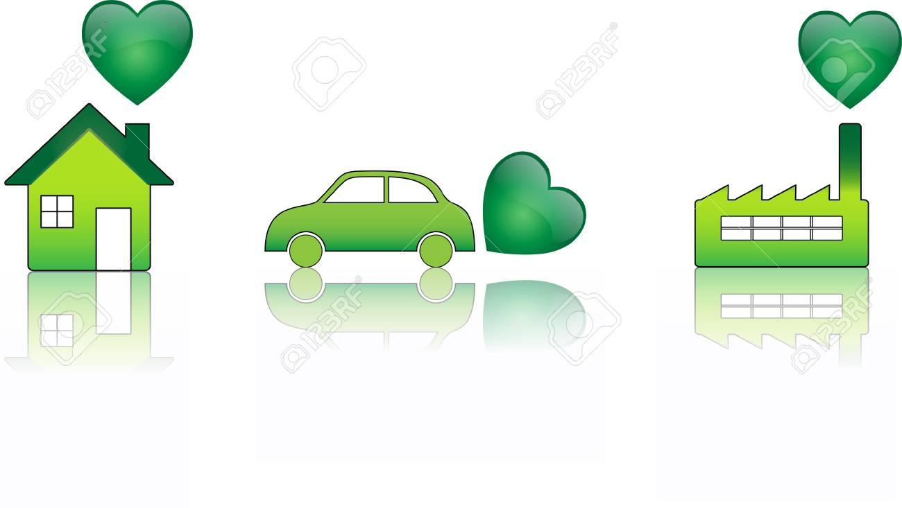 Ecology Heart Stock Vector - 4773232