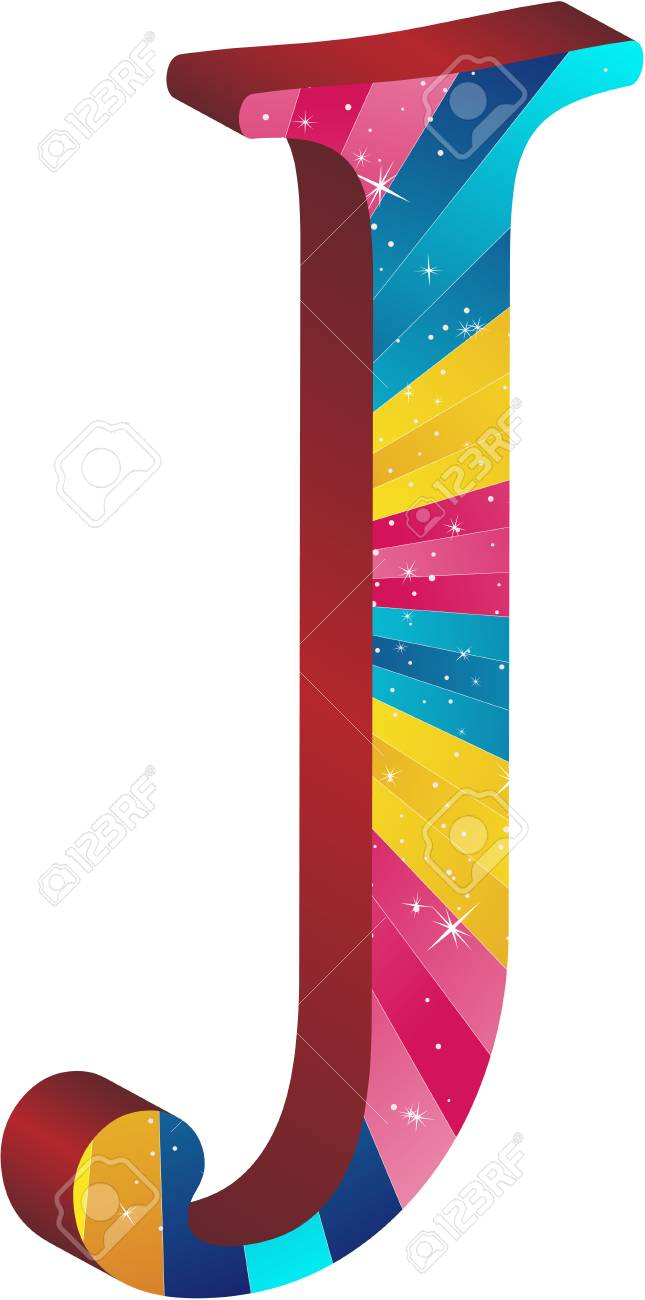 Colored alphabet with stripes and stars Stock Vector - 5648928