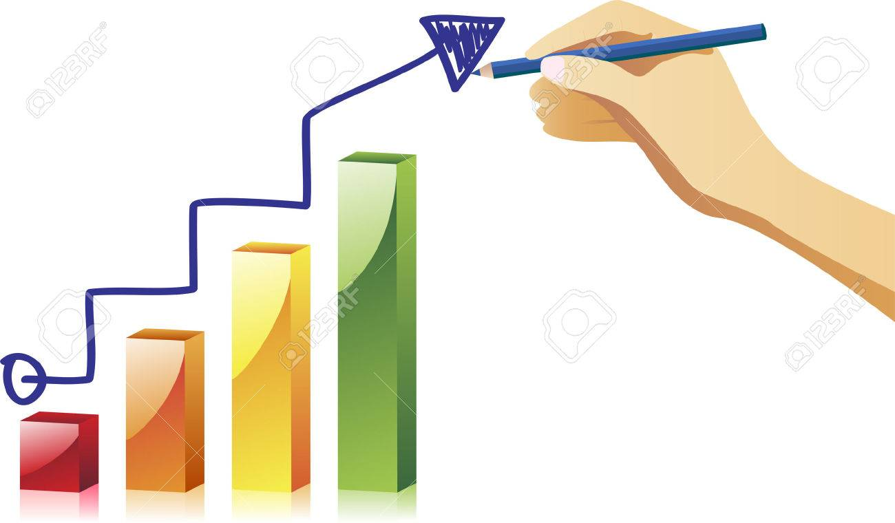 Hand drawing an chart.Image Stock Vector - 5681398