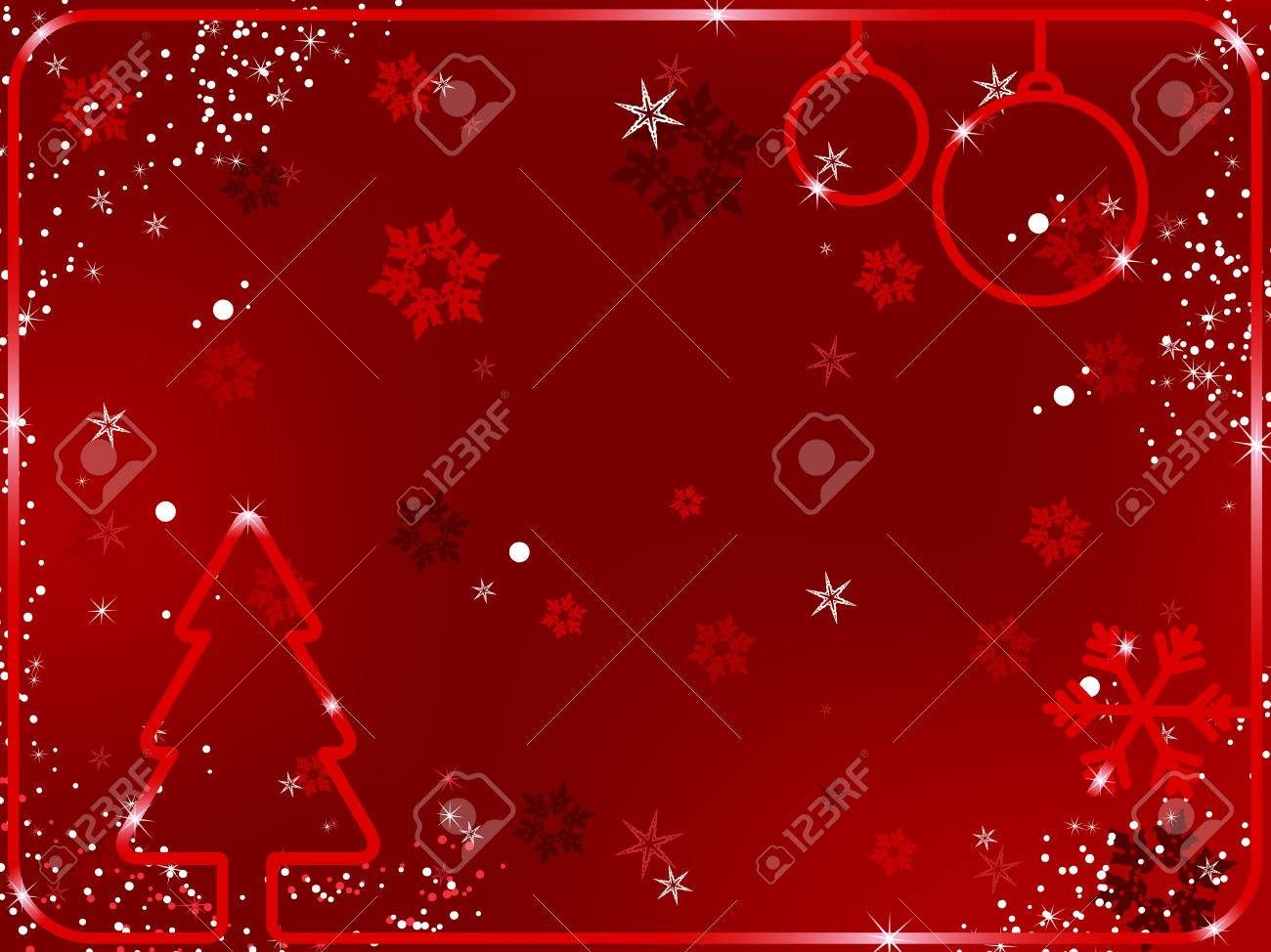 Merry Christmas Background with snowflakes and stars.Vector Image. Stock Vector - 5899462