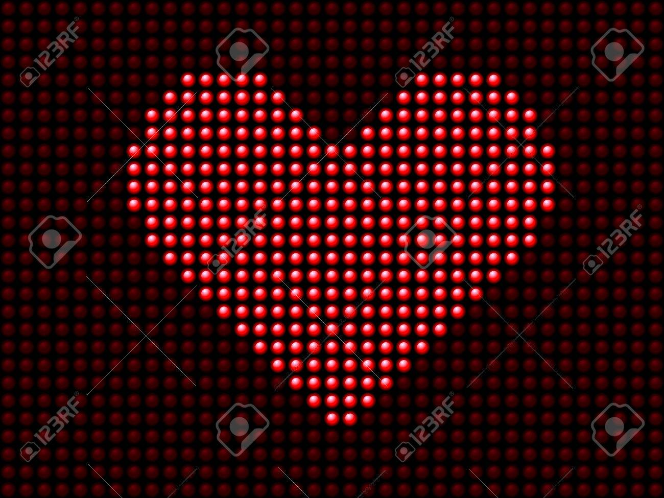 Valentine's day love heart light panel. Editable Vector Image Stock Vector - 6342383