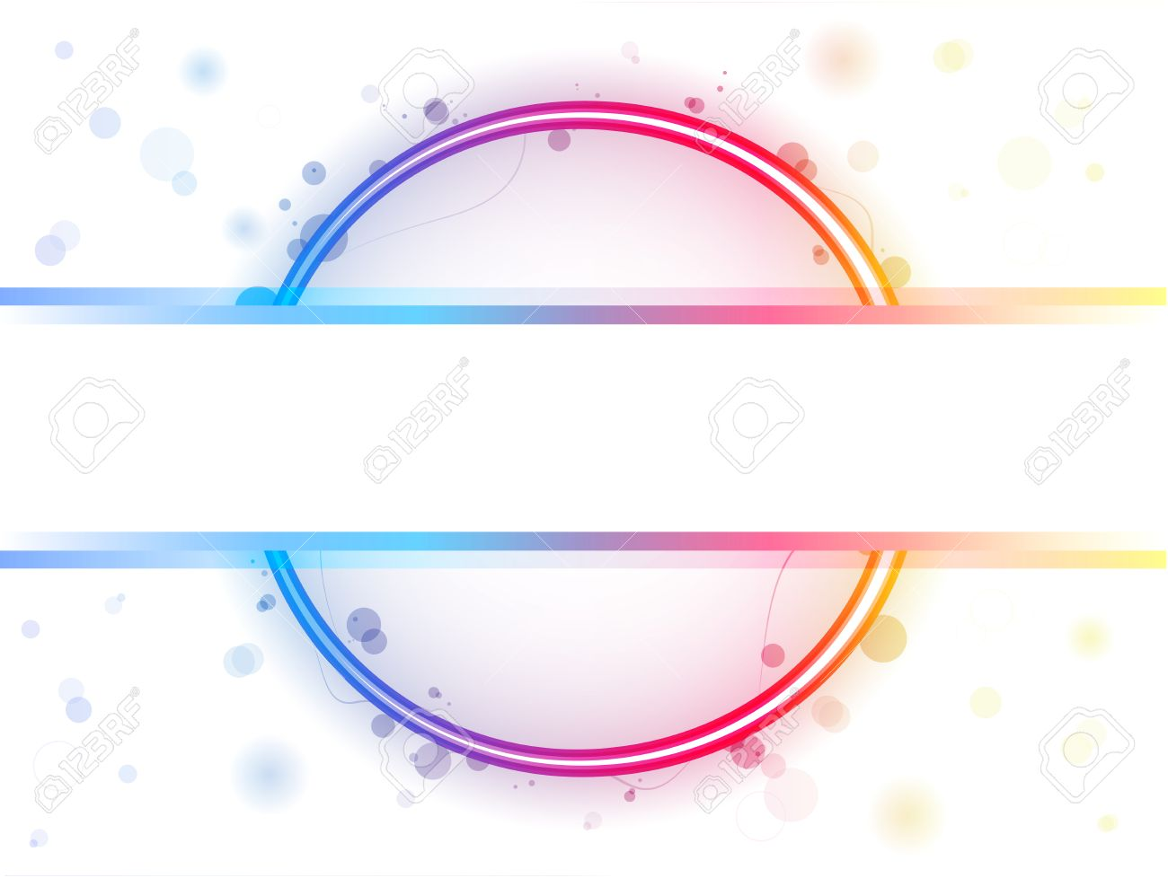Rainbow Circle Border with Sparkles and Swirls Stock Vector - 7428377