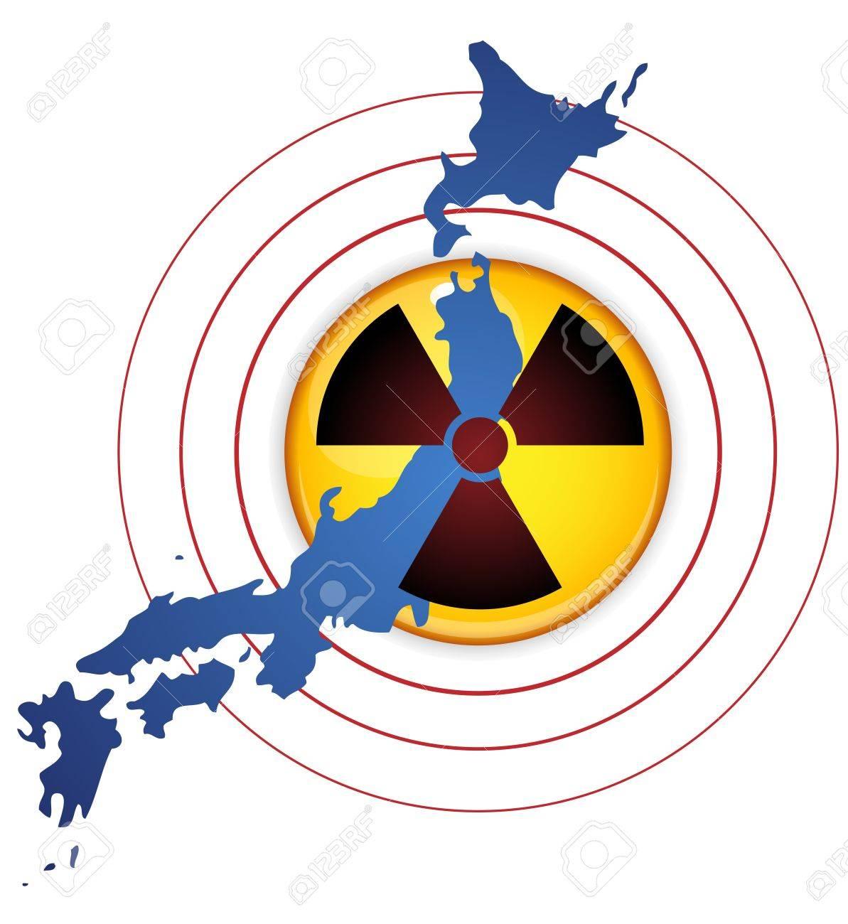 Japan Earthquake, Tsunami and Nuclear Disaster 2011 Stock Vector - 9227936