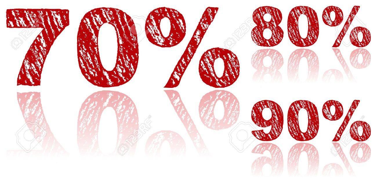 Sale Percentages Written in Red Chalk - Set 3 of 3 Stock Vector - 9227947