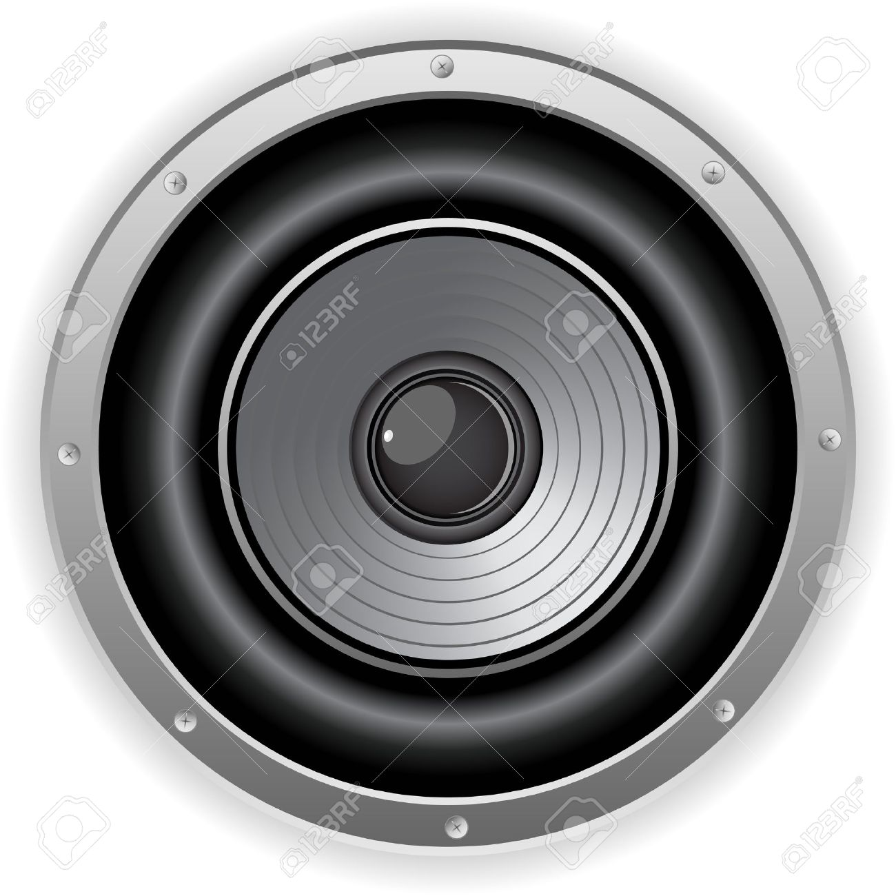 Vector - Round Isolated Sound Speaker Stock Vector - 9721888