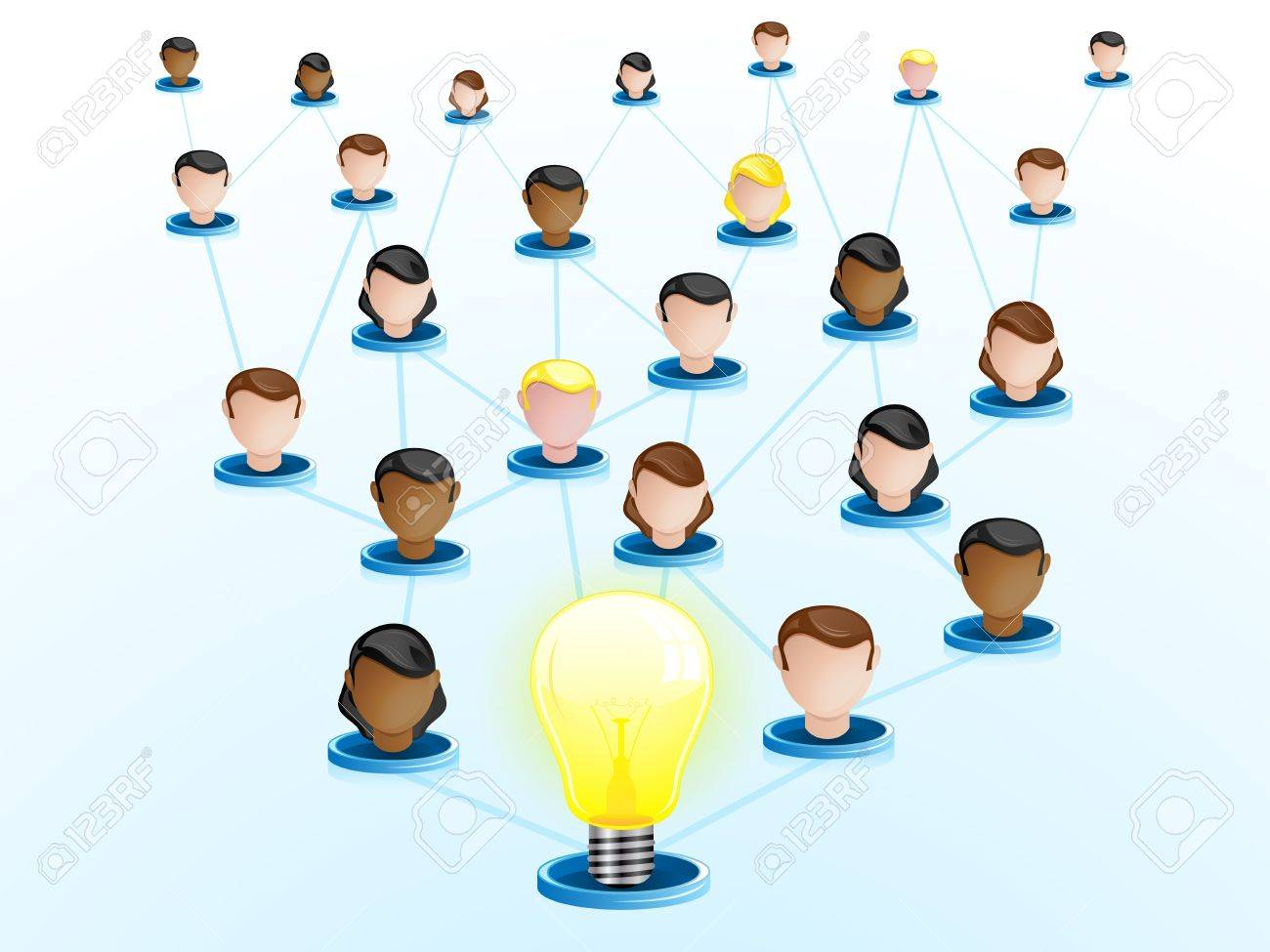 Vector - Creativity Network Crowdsourcing Stock Vector - 10693667
