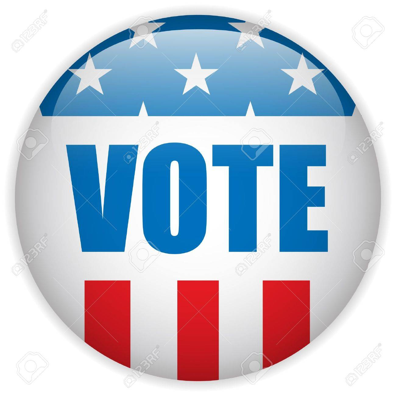 Vector - United States Election Vote Button Royalty Free Cliparts ...