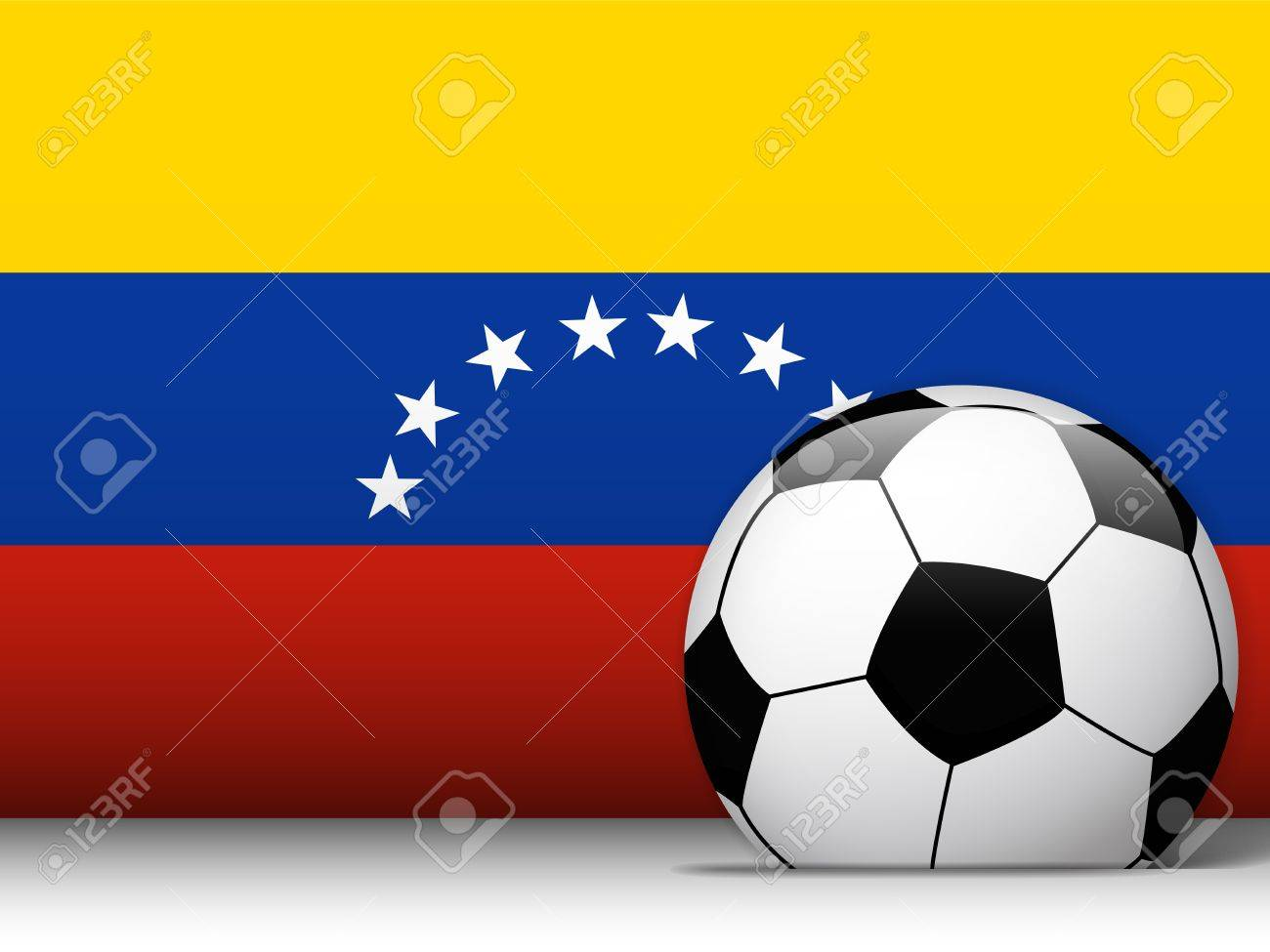 Vector - Venezuela Soccer Ball with Flag Background Stock Vector - 13814721