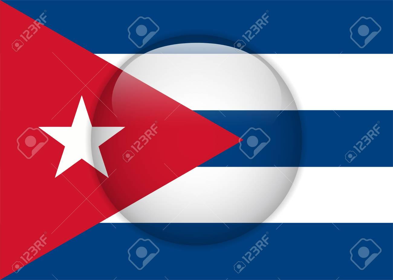 Vector - Cuba Flag Glossy Button Stock Vector - 14220762