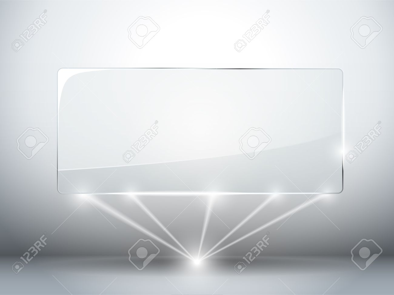 Glass Plate Background with Lasers Stock Vector - 14220893
