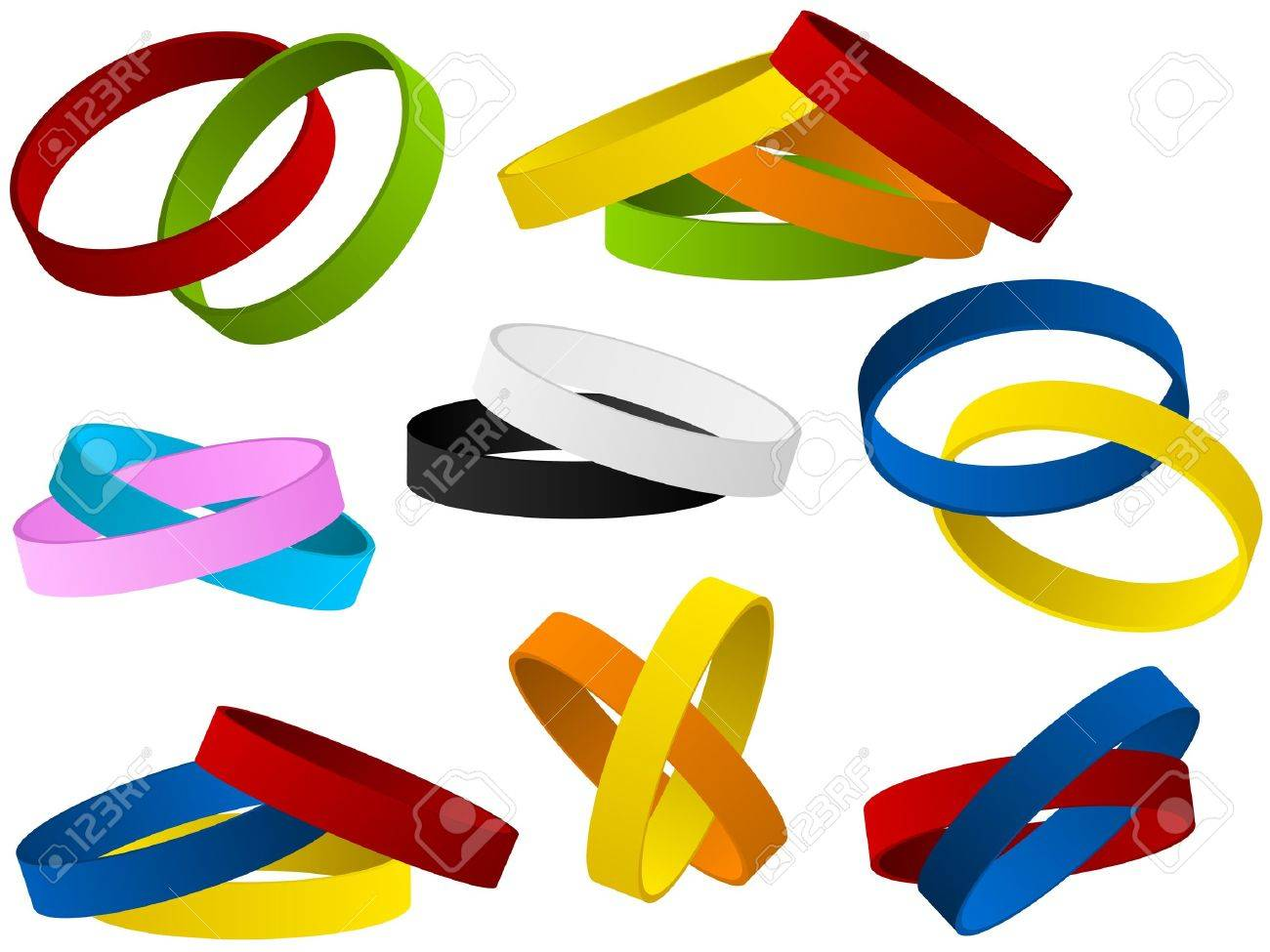 Set of colorful wristband Stock Vector - 14291010