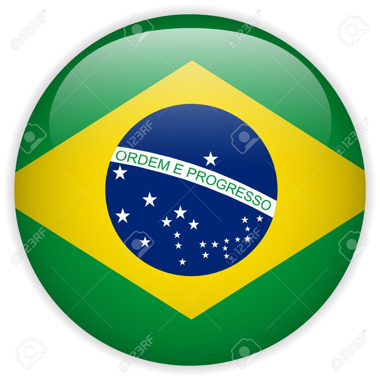 Handmade watercolor brazil flag brasil stock photos freeimages com - Colors Of Flag Brazil Vector Brazil Flag Glossy Button Illustration