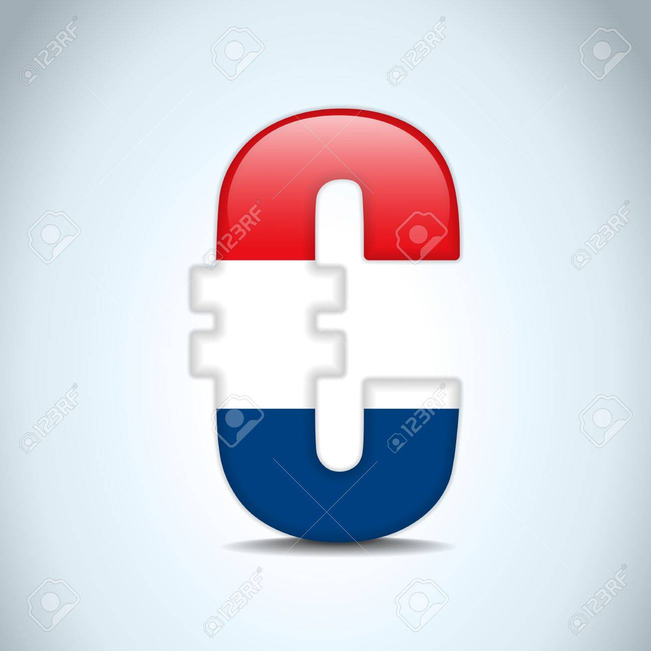 Vector - Euro Symbol with Netherlands Flag Stock Vector - 15367447