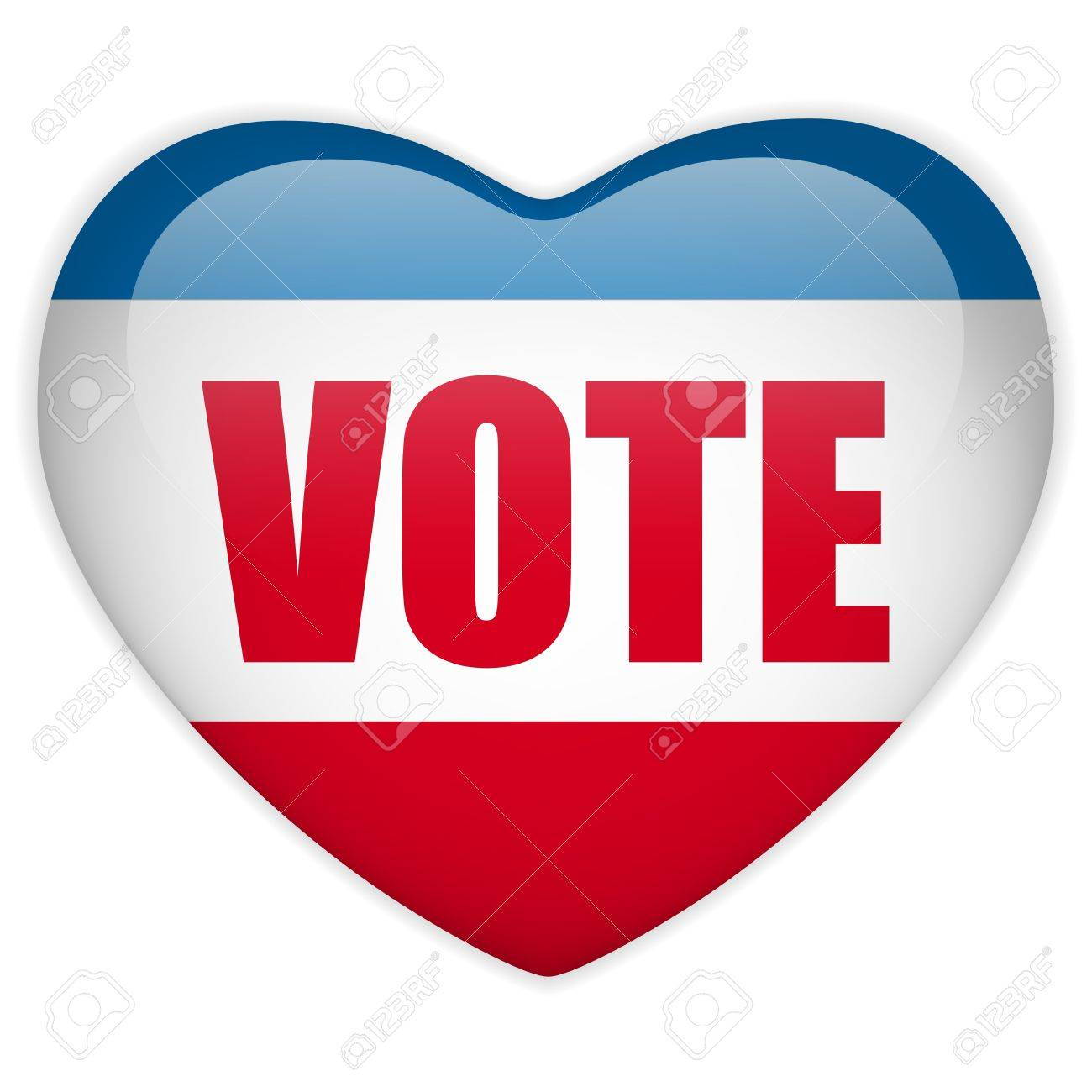 United States Election Vote Heart Button. Stock Vector - 15953308