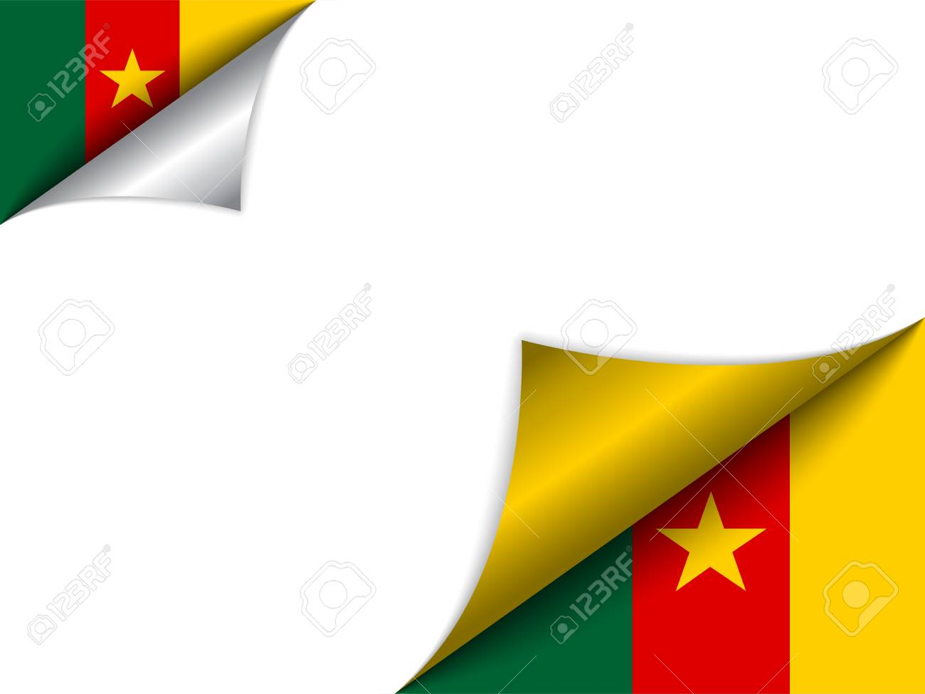 Vector - Cameroon Country Flag Turning Page Stock Vector - 15953953