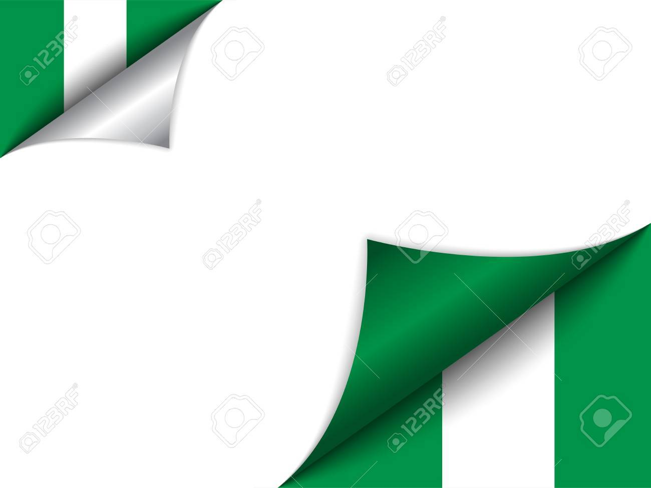 Vector - Nigeria Country Flag Turning Page Stock Vector - 15953920