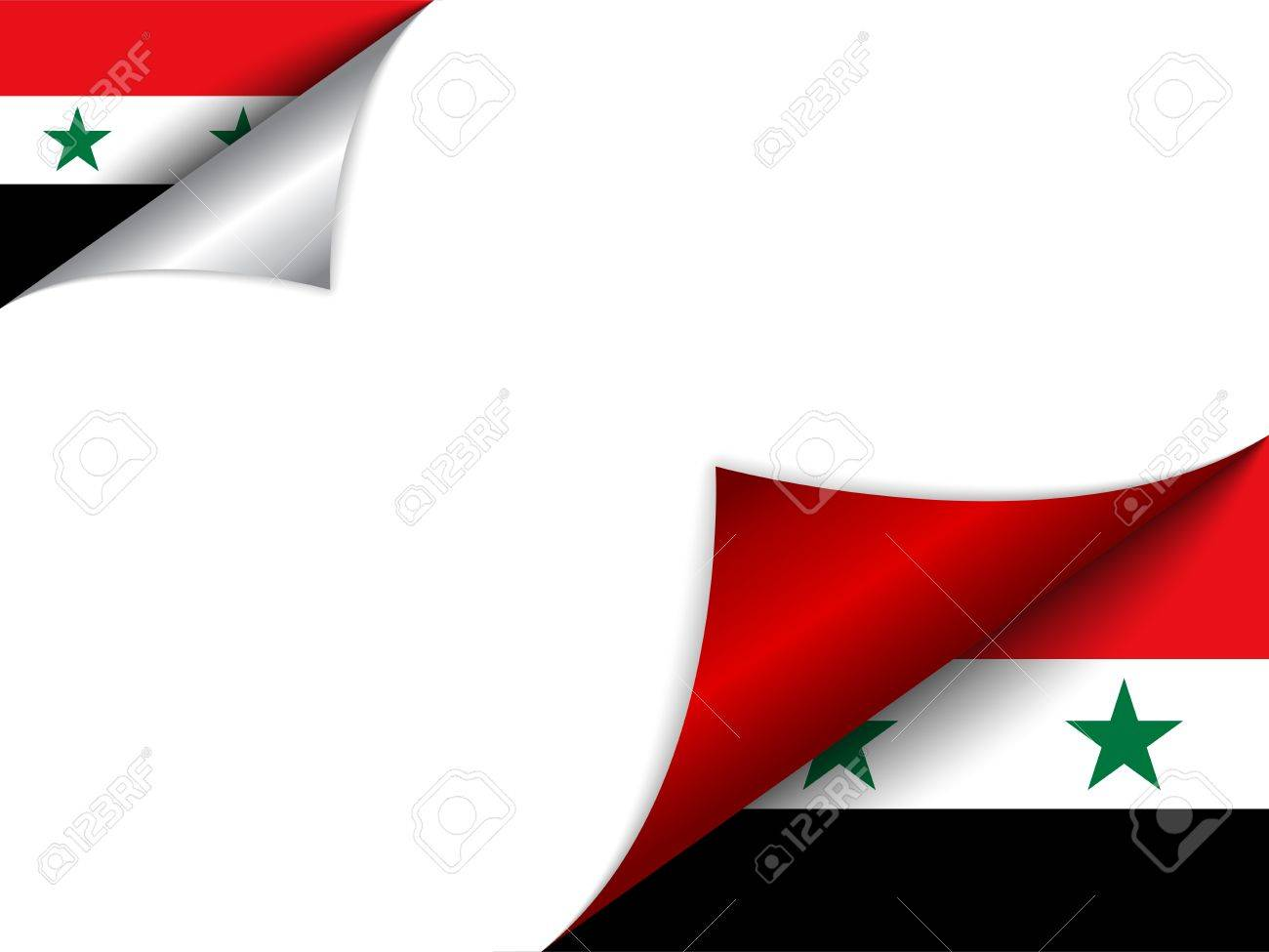 Vector - Syria Country Flag Turning Page Stock Vector - 15953779