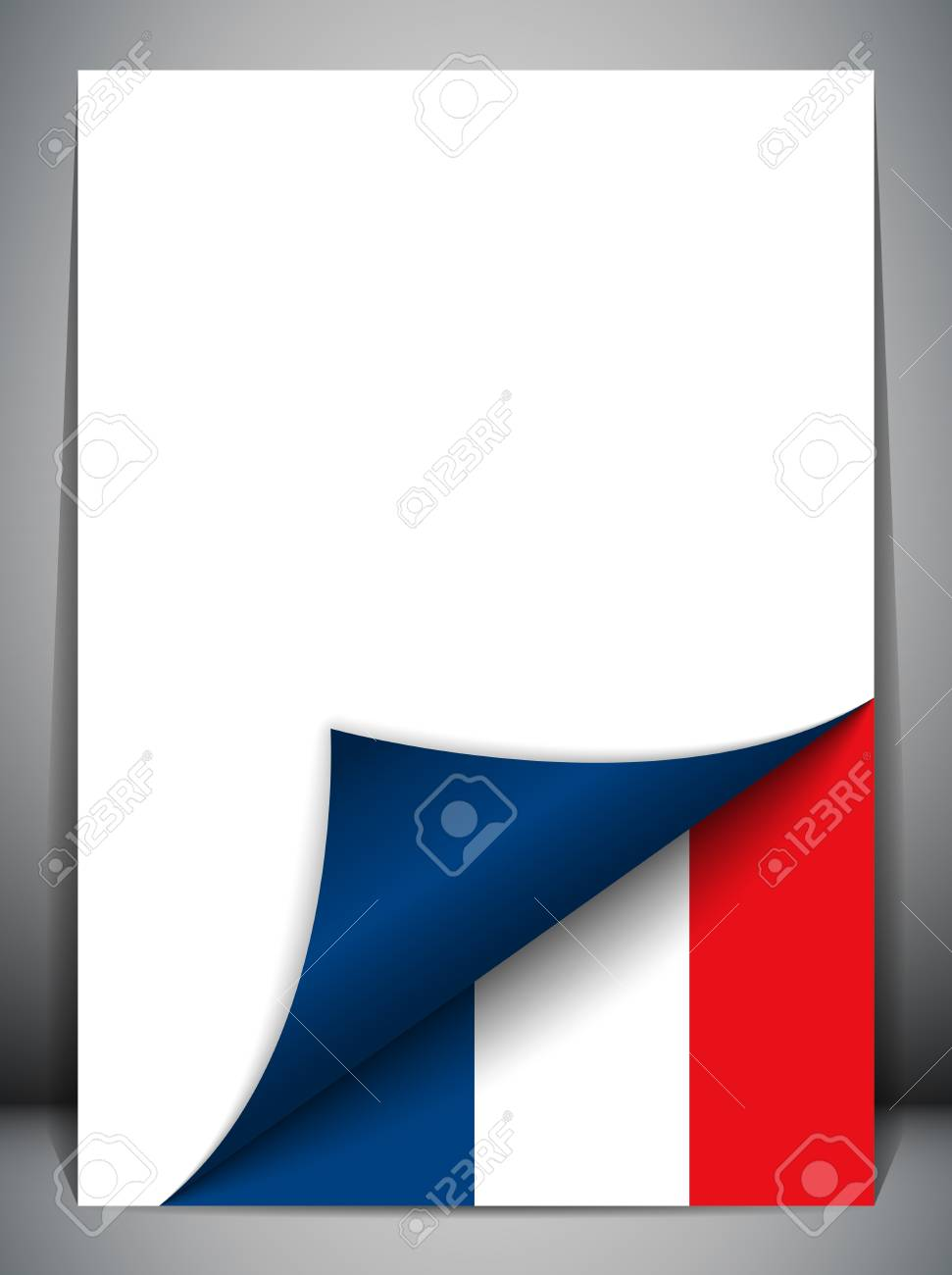 France Country Flag Turning Page Stock Vector - 16659250