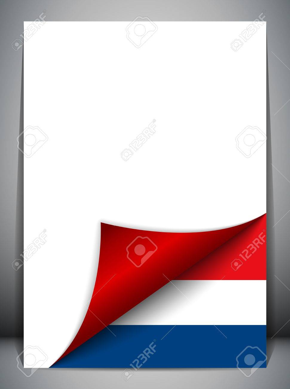 Netherlands Country Flag Turning Page Stock Vector - 16659247