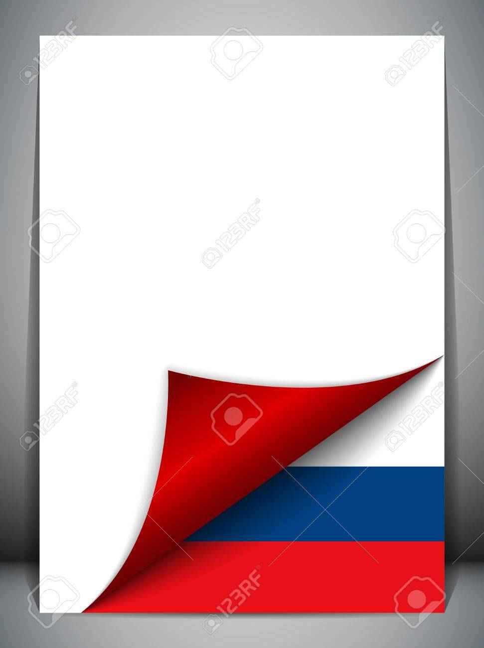 Russia Country Flag Turning Page Stock Vector - 16659240