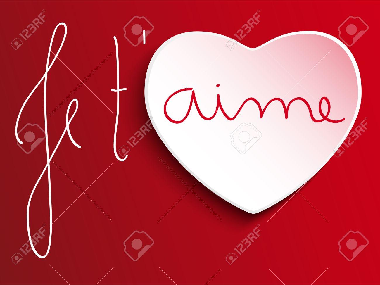 Vector Valentine Day Je T Aime Corazón