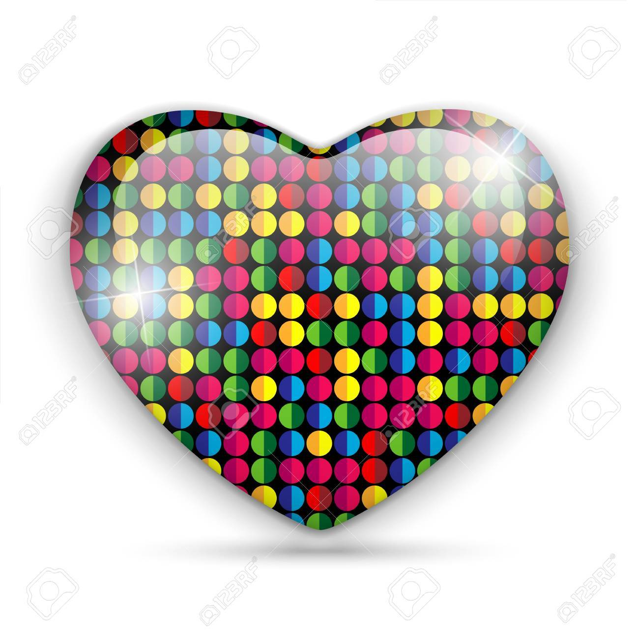 Vector - Glass Heart Dots Color Texture Stock Vector - 17302916