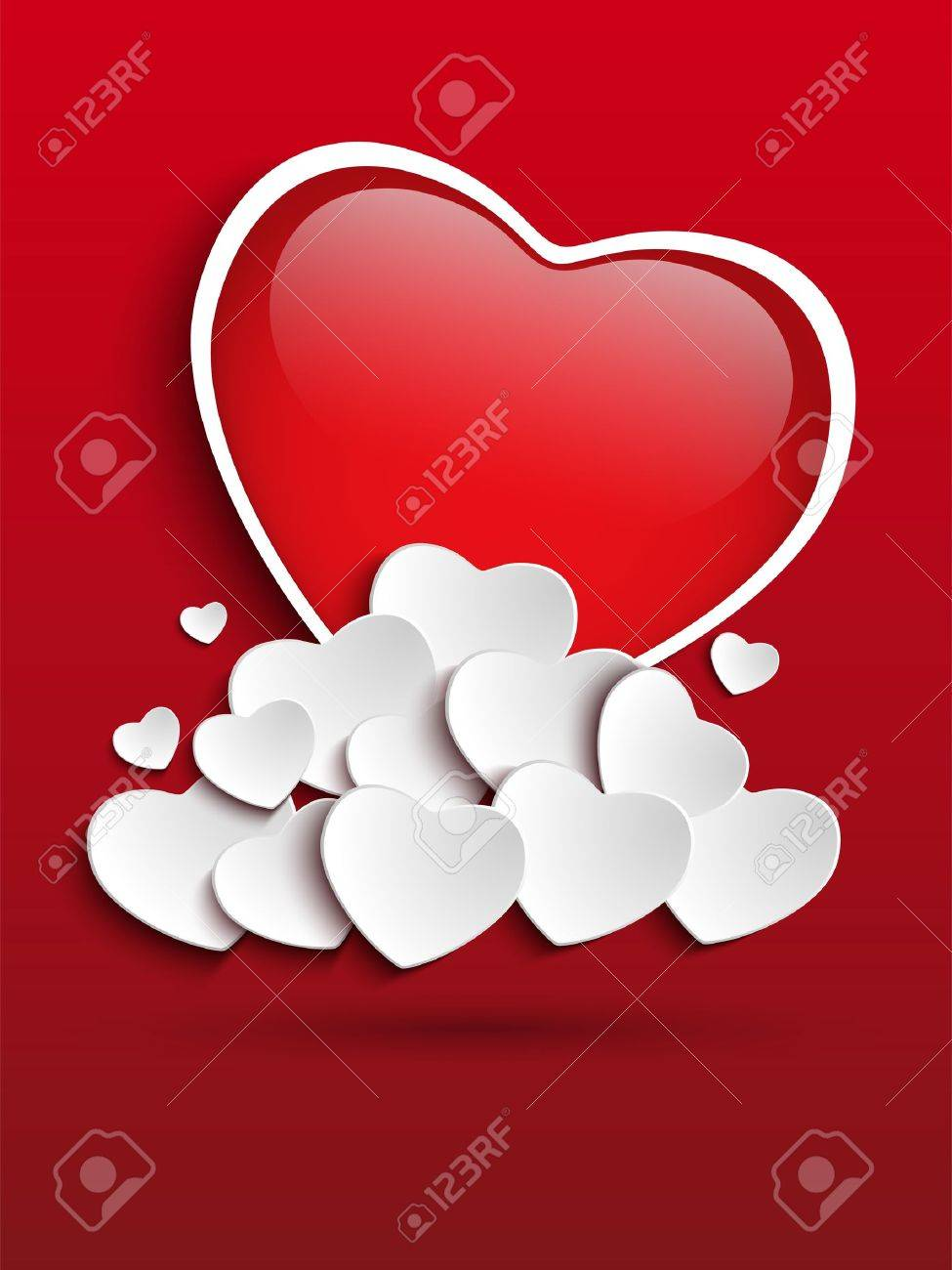 Vector - Valentines Day Heart Clouds Stock Vector - 17302918